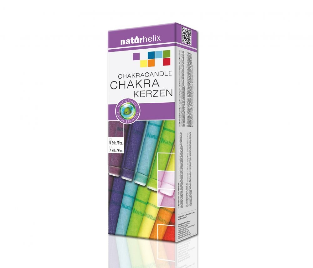 Naturhelix - Chakrakerzen - Körperkerzen - 7 Stk.