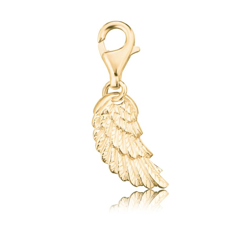 Engelsrufer - Charm Engelsflügel - silber vergoldet