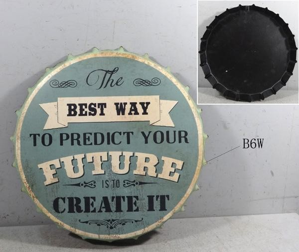 Retro Metallschild - The best way to predict your future is to create it