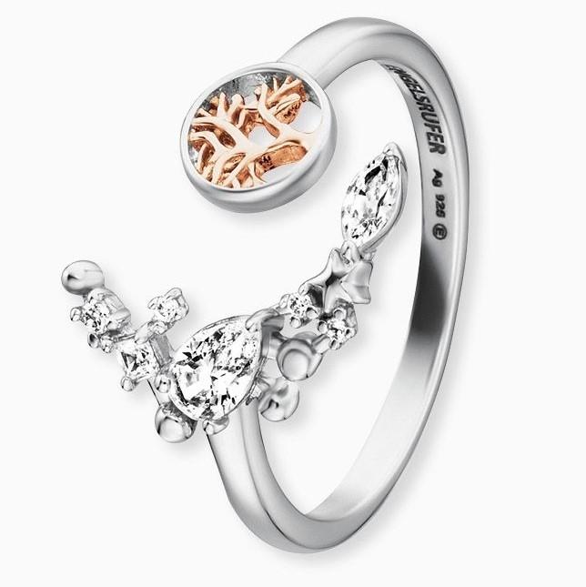 Engelsrufer - Ring - Moonlight Lebensbaum - Silber mit Kristallen