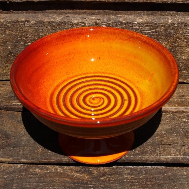 Räucherschale - Räucherkelch aus Keramik - Feuer