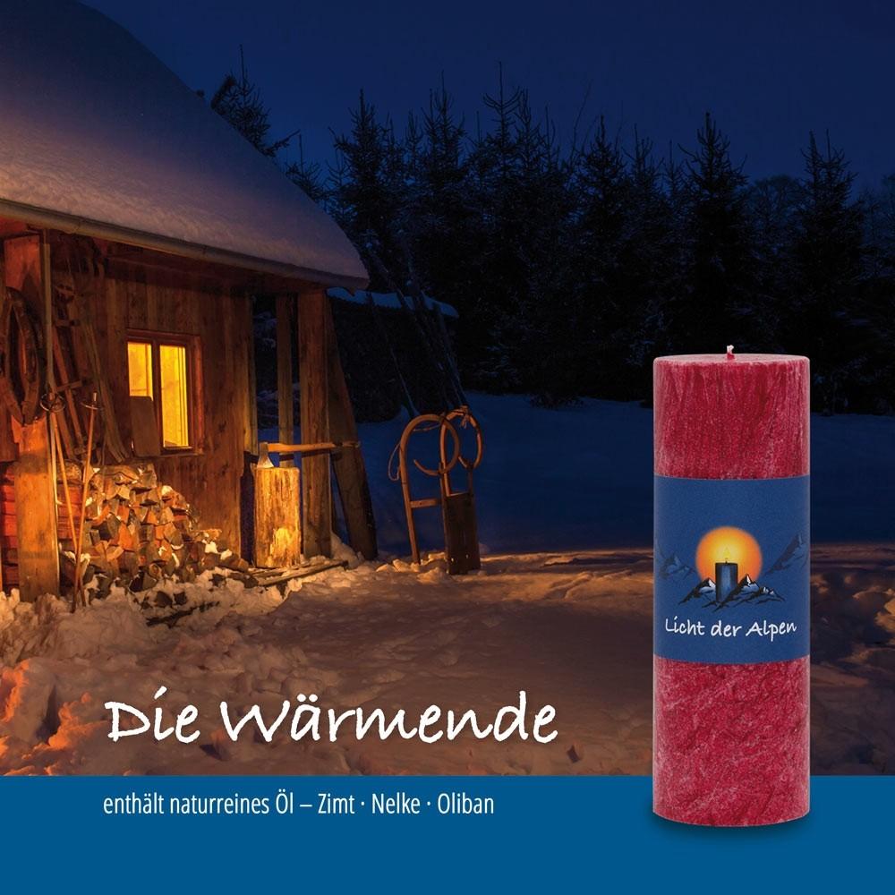 Licht der Alpen - Allgäuer Naturduftkerze - Die Wärmende