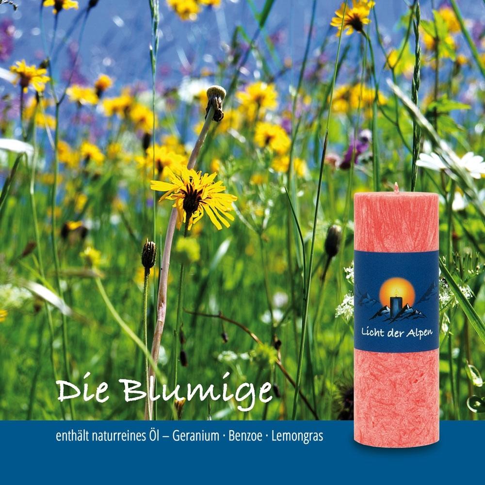 Licht der Alpen - Allgäuer Naturduftkerze - Die Blumige