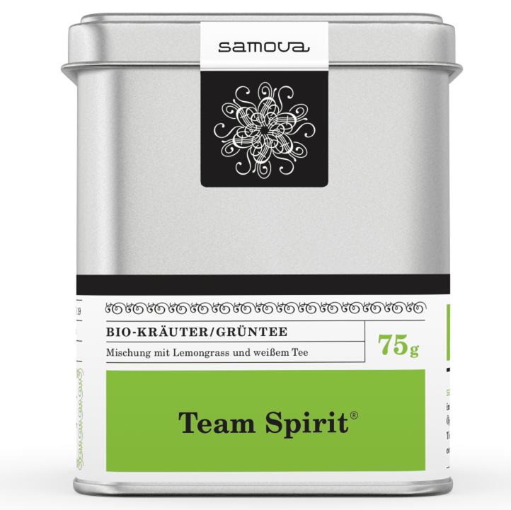 Samova Tee - TEAM SPIRIT BIO - Bio-Kräuter / Grüntee - Mischung mit Lemongrass und weißem Tee
