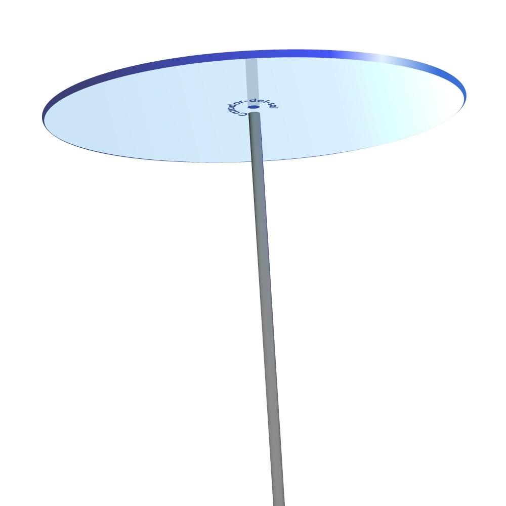 SONNENSCHEIBE - Sonnenfänger - BLAU mit Schwingstab - groß 20cm