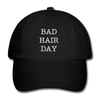 Schildkappe - Baseballmütze - Schwarz - BAD HAIR DAY