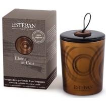 DUFTKERZE - ÈBÉNE ET CUIR - Nachfüllbar - Esteban Parfums - 170g