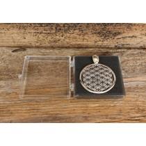 Die Blume des Lebens - Anhänger 3cm - Silber