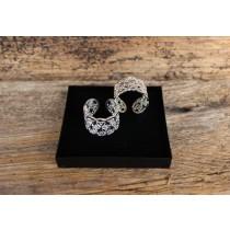 Die Blume des Lebens, Ring 2cm, Silber, verstellbar