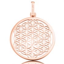 Engelsrufer - Die Blume des Lebens, Anhänger  33mm, Silber - Rosé Vergoldet