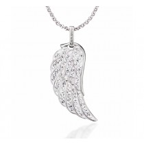 Engelsrufer - Engelsflügel Silber mit Kristallen