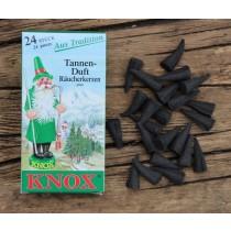 Räucherkegel, Räucherkerzen Knox - TANNENDUFT