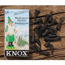 Räucherkegel, Räucherkerzen Knox - WEIHRAUCH / MYRRHE