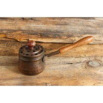 Traditionelles Räuchergefäß aus dem Alpenraum - Kupferpfanne - Räucherpfanne - Mittel
