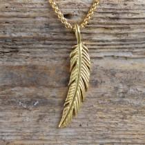 Traumfänger, Glücksanhänger - FEDER - Klein - 3,5cm - Gold