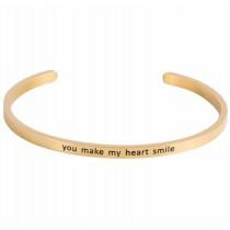 Armcandy - Amreifen - Gold - YOU MAKE MY HEART SMILE