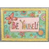 Retro Bild mit Rahmen - Be youself