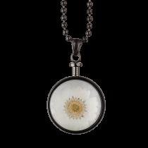 BLUMENKIND - Schmuck - Anhänger Grau - Chrysantheme Weiß