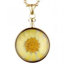 BLUMENKIND - Schmuck - Anhänger Gold - Chrysantheme Gelb