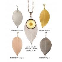 BLUMENKIND - Schmuck - Anhänger - Bodhibaum BLATT - Silber, Gold, Rosegold oder Grau