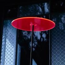 SONNENSCHEIBE - Sonnenfänger - ROT mit Schwingstab - groß 20cm