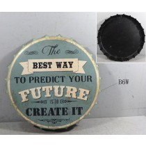 Retro Metallschild - The best way to predict your future is to create it