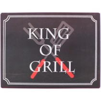 Retro Vintage Metallschild - King of Grill