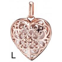 Engelsrufer - Anhänger - Heart - Herz - Silber / Rosé mit Zirkoniakristallen