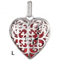 Engelsrufer - Anhänger - Heart - Herz - Silber mit rotem Klangherz