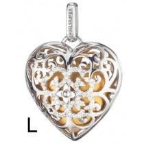 Engelsrufer - Anhänger - Heart - Herz - Silber mit Zirkoniakristallen