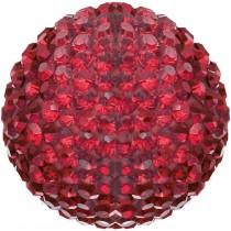 Engelsrufer - Klangkugel mit Kristallen - Rot