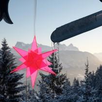 STERNENHIMMEL - Fluoreszierender ROTER GLÜCKSSTERN - Estrella