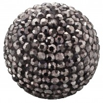 Engelsrufer - Klangkugel mit Kristallen - Schwarz