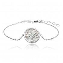 Julie Julsen - Armband - Lebensbaum Perlmutt Silber