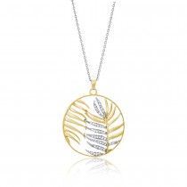 Julie Julsen - Halskette - Palmenblatt Gold
