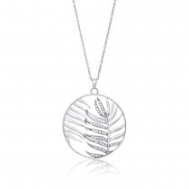 Julie Julsen - Halskette - Palmenblatt Silber
