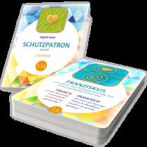 """Ingrid Auer - Energetisiertes Kartenset """"Schutzpatron-Symbole"""" mit Guidebook"""