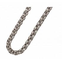 Traumfänger, Glücksanhänger - HALSKETTE - Stahl - Silber - 70cm