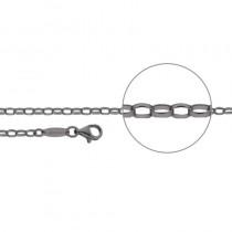 Der Kettenmacher - Ankerkette Oval - 2,6mm - Dunkelgrau - Von 45cm & 80cm
