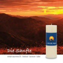 Licht der Alpen - Allgäuer Naturduftkerze - Die Sanfte