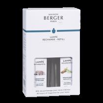 Maison Lampe Berger - Nachfüllduft - Raumparfum - DUOPACK - 2x 250ml - Aromatischer Weißer Tee und Zarte Baumwollblüte