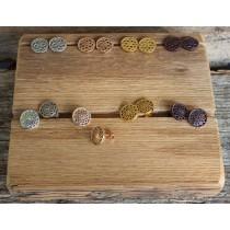 Traumfänger Schmuck - OHRRINGE - BLUME - Silber, Rosé Gold, Gold und Braun