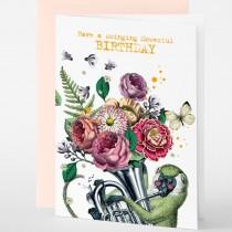 Pabuku - Grußkarten - Geburtstag - HAVE A SWINGING FLOWERFUL BIRTHDAY