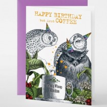 Pabuku - Grußkarten - COFFE OWL - Eule