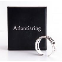 Schmuck - ATLANTISRING - Herrengröße - offen - Silber