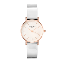 Rosefield - Watches - Damenuhr - PREMIUM GLOSS - Metallic Weiss / Rosegold - 33mm