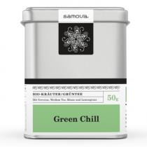 Samova Tee - GREEN CHILL - Bio-Kräuter / Grüntee mit Zitronenverbene, Weißem Tee und Krauseminze