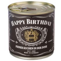 Cancake - Wondercandle - Kuchen in der Dose - WHISKEY - Happy Birthday