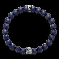 Gervida - Herrenschmuck - Armband - Zugarmband Tigerauge Blau mit Silberperle