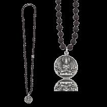 Gervida - Herrenschmuck - Kette - Anhänger - Lavastein - Buddha